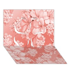 Delicate Floral Pattern,pink  Clover 3D Greeting Card (7x5)