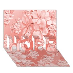 Delicate Floral Pattern,pink  HOPE 3D Greeting Card (7x5)