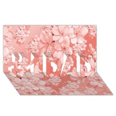 Delicate Floral Pattern,pink  #1 Dad 3d Greeting Card (8x4)