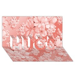 Delicate Floral Pattern,pink  Hugs 3d Greeting Card (8x4)