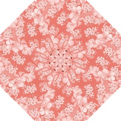 Delicate Floral Pattern,pink  Hook Handle Umbrellas (small)