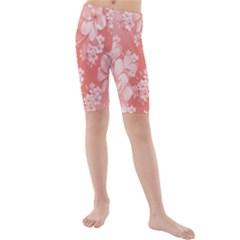 Delicate Floral Pattern,pink  Kid s swimwear