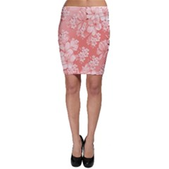 Delicate Floral Pattern,pink  Bodycon Skirts