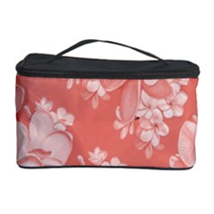 Delicate Floral Pattern,pink  Cosmetic Storage Cases