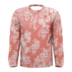 Delicate Floral Pattern,pink  Men s Long Sleeve T-shirts