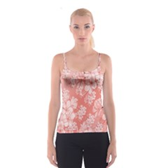 Delicate Floral Pattern,pink  Spaghetti Strap Tops