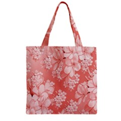 Delicate Floral Pattern,pink  Zipper Grocery Tote Bags