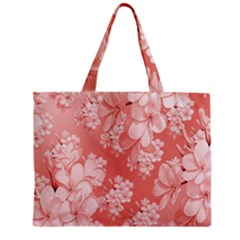 Delicate Floral Pattern,pink  Zipper Tiny Tote Bags