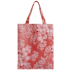Delicate Floral Pattern,pink  Zipper Classic Tote Bags