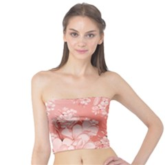 Delicate Floral Pattern,pink  Women s Tube Tops
