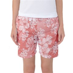 Delicate Floral Pattern,pink  Women s Basketball Shorts