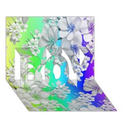Delicate Floral Pattern,rainbow Boy 3d Greeting Card (7x5)