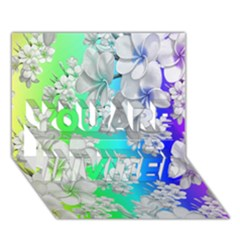 Delicate Floral Pattern,rainbow YOU ARE INVITED 3D Greeting Card (7x5)