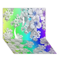 Delicate Floral Pattern,rainbow Apple 3D Greeting Card (7x5)