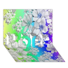 Delicate Floral Pattern,rainbow Hope 3d Greeting Card (7x5)