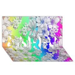 Delicate Floral Pattern,rainbow Sorry 3d Greeting Card (8x4)