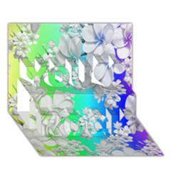 Delicate Floral Pattern,rainbow You Rock 3D Greeting Card (7x5)