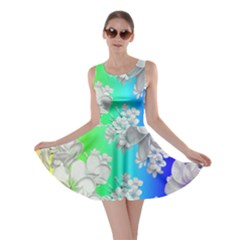 Delicate Floral Pattern,rainbow Skater Dresses