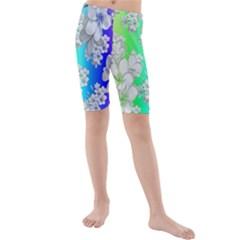 Delicate Floral Pattern,rainbow Kid s swimwear
