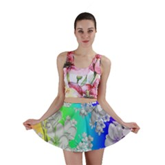 Delicate Floral Pattern,rainbow Mini Skirts