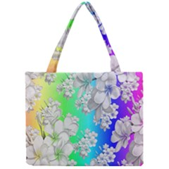 Delicate Floral Pattern,rainbow Tiny Tote Bags