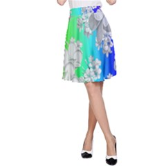 Delicate Floral Pattern,rainbow A-Line Skirts
