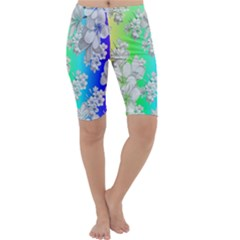 Delicate Floral Pattern,rainbow Cropped Leggings