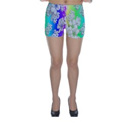 Delicate Floral Pattern,rainbow Skinny Shorts