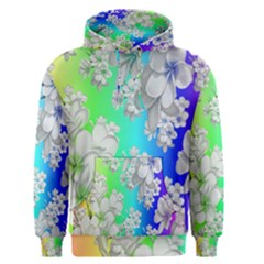 Delicate Floral Pattern,rainbow Men s Pullover Hoodies