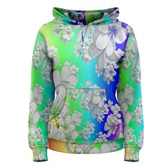 Delicate Floral Pattern,rainbow Women s Pullover Hoodies