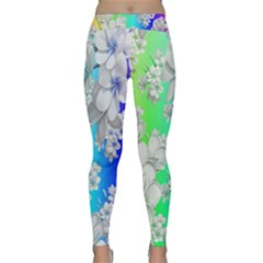 Delicate Floral Pattern,rainbow Yoga Leggings