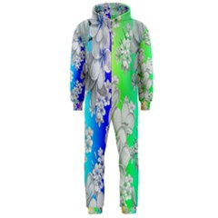 Delicate Floral Pattern,rainbow Hooded Jumpsuit (Men)