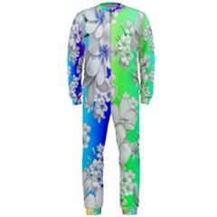 Delicate Floral Pattern,rainbow OnePiece Jumpsuit (Men)