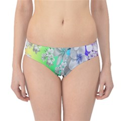 Delicate Floral Pattern,rainbow Hipster Bikini Bottoms