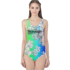 Delicate Floral Pattern,rainbow Women s One Piece Swimsuits