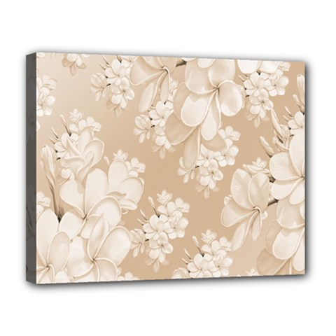 Delicate Floral Pattern,softly Canvas 14  x 11