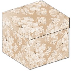 Delicate Floral Pattern,softly Storage Stool 12