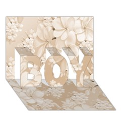 Delicate Floral Pattern,softly BOY 3D Greeting Card (7x5)