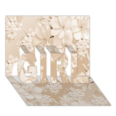 Delicate Floral Pattern,softly Girl 3d Greeting Card (7x5)