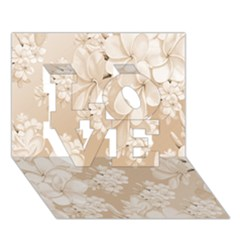 Delicate Floral Pattern,softly LOVE 3D Greeting Card (7x5)