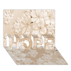 Delicate Floral Pattern,softly HOPE 3D Greeting Card (7x5)