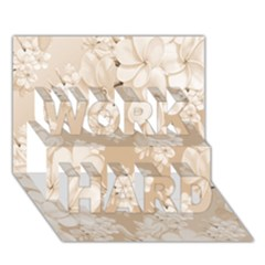 Delicate Floral Pattern,softly Work Hard 3d Greeting Card (7x5)