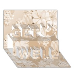 Delicate Floral Pattern,softly Get Well 3D Greeting Card (7x5)