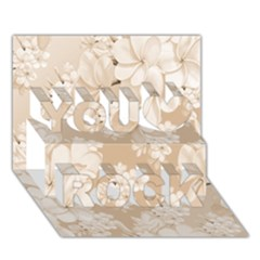 Delicate Floral Pattern,softly You Rock 3D Greeting Card (7x5)