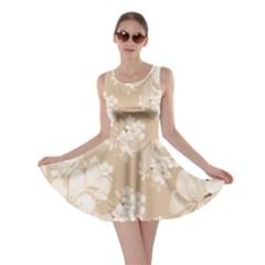 Delicate Floral Pattern,softly Skater Dresses