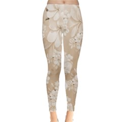 Delicate Floral Pattern,softly Women s Leggings