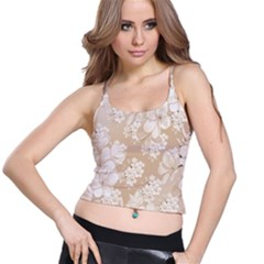 Delicate Floral Pattern,softly Spaghetti Strap Bra Tops