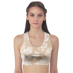 Delicate Floral Pattern,softly Sports Bra