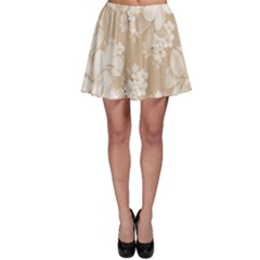 Delicate Floral Pattern,softly Skater Skirts