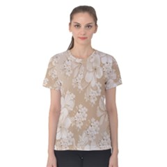 Delicate Floral Pattern,softly Women s Cotton Tees
